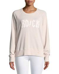 Zadig & Voltaire - Amour Crewneck Distressed Pullover Sweatshirt - Lyst