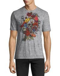 Robert Graham - Floral And Skull Print Cotton Crewneck Tee - Lyst