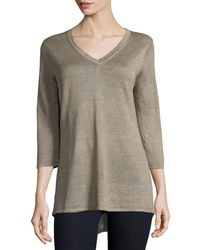 Belford - 3/4-sleeve V-neck Tunic - Lyst