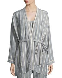 Xirena - Ryder Striped Cotton Robe - Lyst