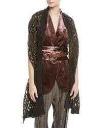 Brunello Cucinelli - Mohair-blend Netted Scarf W/ Paillettes - Lyst