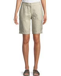 Eileen Fisher - Twinkle Linen-blend Walking Shorts - Lyst
