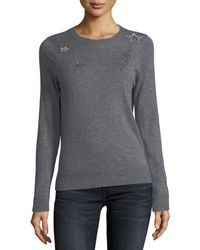 Zadig & Voltaire - Miss Ter Crewneck Cashmere Sweater W/ Beaded Embellishment - Lyst