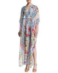 Johnny Was - Juniper Printed Long Coverup Kaftan - Lyst