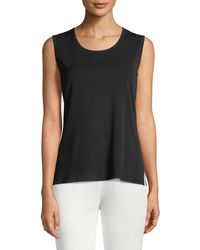 c4c295514a281 Michael Kors Scoop-neck Fitted Tank Top in Brown - Lyst