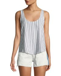 Rag & Bone - Valley Striped Poplin Tank - Lyst