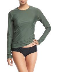 Cover - Perfect Upf 50 Long-sleeve Swim Tee - Lyst