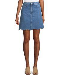 M.i.h Jeans - Lennie A-line Scalloped-hem Denim Skirt - Lyst