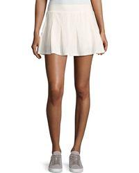 Tory Sport - Pleated Jersey Mini Skirt - Lyst
