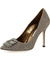 Manolo Blahnik - Hangisi Printed Fabric 105mm Pump - Lyst
