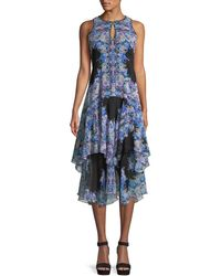 Nanette Lepore - Canary Tiered Dress W/ Keyhole Cutouts - Lyst