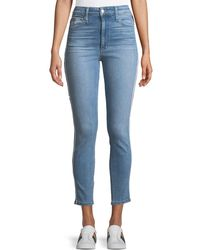 Joe's Jeans - The Charlie Ankle Skinny Jeans W/ Velvet Stripes - Lyst