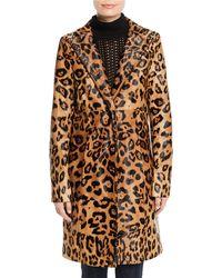 Elie Tahari - Angelina Leopard-print Calf Hair Coat - Lyst