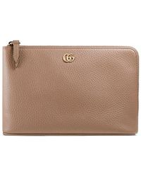 79133523bad Lyst - Gucci Women s Petite Marmont Wallet On Chain - Black in Pink