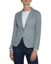 Eleventy - Relaxed Stretch-wool Blazer Jacket - Lyst