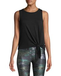 Terez - Side-tie Crewneck Tank Top - Lyst