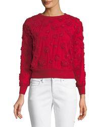 Elie Tahari | Roslyn Floral-appliqué Sweater | Lyst