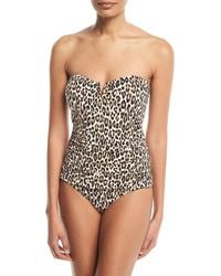 Tommy Bahama - Cat Meow V-wire Bandeau One-piece Swimsuit - Lyst