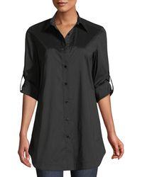 Misook - Button-front Shirt W/ Painter's Pockets - Lyst