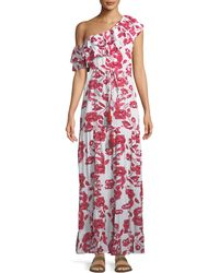 Lovers + Friends - Amity One-shoulder Floral-print Maxi Dress - Lyst