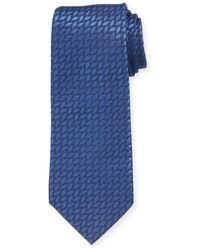 Giorgio Armani - Tonal Zigzag Stripe Silk Tie - Lyst