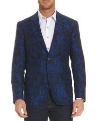 Robert Graham - Buxons Floral-pattern Linen-blend Jacket - Lyst