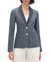 Lafayette 148 New York - Vangie Sublime Space-dye Two-button Jacket - Lyst
