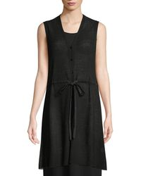 Eileen Fisher - Organic Linen Long Vest - Lyst