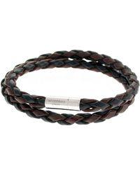 Tateossian - Men's Braided Leather Double-wrap Bracelet - Lyst
