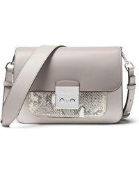 MICHAEL Michael Kors - Sloan Editor Large Shoulder Bag - Silver Hardware - Lyst