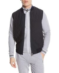 Z Zegna - Quilted Zip-front Hybrid Vest - Lyst