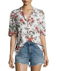 McQ - Billy Short-sleeve Printed Top - Lyst
