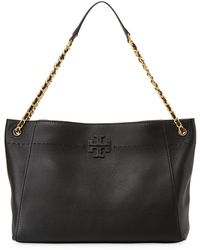 Tory Burch - Mcgraw Woven Chain Slouchy Tote Bag - Lyst