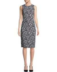 e6b8b1a4 Michael Kors Zebra-print Sheath Dress in Black - Lyst