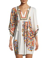 Tory Burch - Psycho Geo Embroidered Coverup Tunic - Lyst