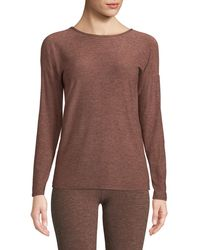 Beyond Yoga - Moonrise Crewneck Long-sleeve Space-dye Pullover Top - Lyst