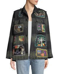 Libertine - Button-front Embroidered-patchwork Army Jacket - Lyst