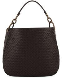 Bottega Veneta - Small Loop Intrecciato Woven Hobo Bag - Lyst