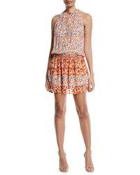 Ramy Brook | Mackinley Sleeveless Floral-print Silk Dress | Lyst