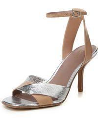 Diane von Furstenberg - Fiona Matte/metallic Leather Ankle-strap Sandal - Lyst