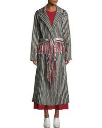 25362e06d4c8 Gabriela Hearst - Jiminez Poncho-print Mid-calf Cashmere Coat - Lyst