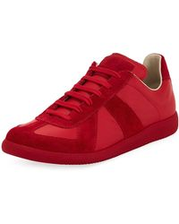 Maison Margiela - Men's Replica Leather & Suede Low-top Sneaker - Lyst