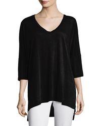 Eileen Fisher - Dolman-sleeve Boxy Organic Linen Tunic - Lyst