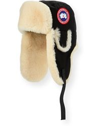 Canada Goose - Aviator Hat With Shearling - Lyst