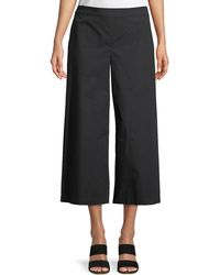 Eileen Fisher - Organic Cotton Wide-leg Cropped Pants - Lyst