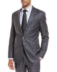 Giorgio Armani - Windowpane Wool Two-piece Suit - Lyst