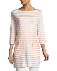Joan Vass - Striped Cotton Interlock 2-pocket Tunic - Lyst