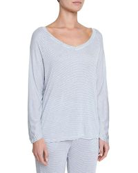 Eberjey - Georgie Not-so-basic Long-sleeve Top - Lyst