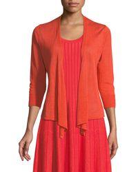 NIC+ZOE - 4-way Linen-blend Knit Cardigan Sweater - Lyst