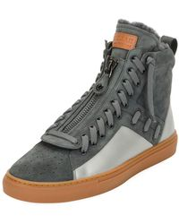 Bally - Men's Hekem Fur-lined Suede High-top Sneakers - Lyst